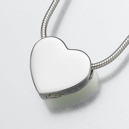 Sterling Silver Slide Heart