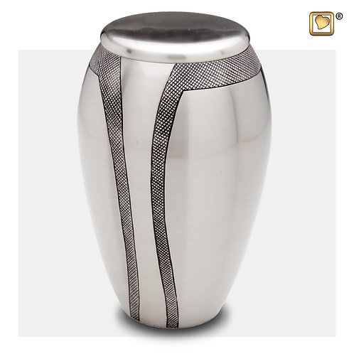 Majestic Stripes Urn Brushed Pewter