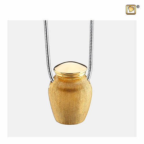 Classic Urn Ashes Pendant Polished & Brushed Gold Vermeil