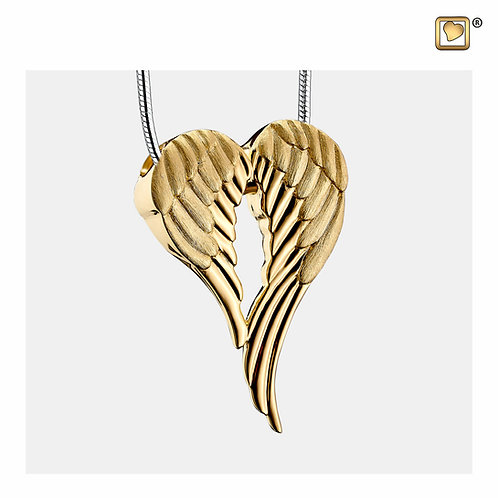 AngelWings Ashes Pendant Polished & Brushed Gold Vermeil