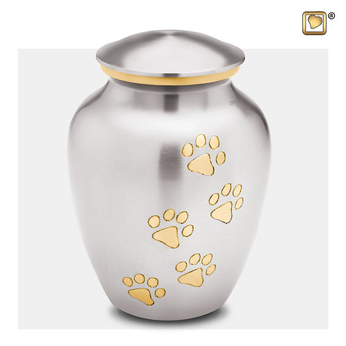 Classic Pet Urn Brushed Pewter