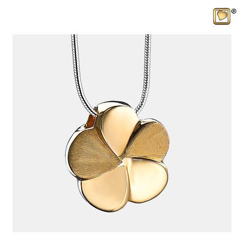 Bloom Ashes Pendant Polished & Brushed Gold Vermeil