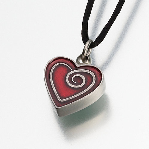 Enameled Pewter Red Heart