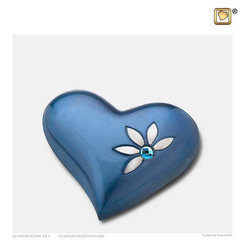 Nirvana Azure Heart Keepsake Urn