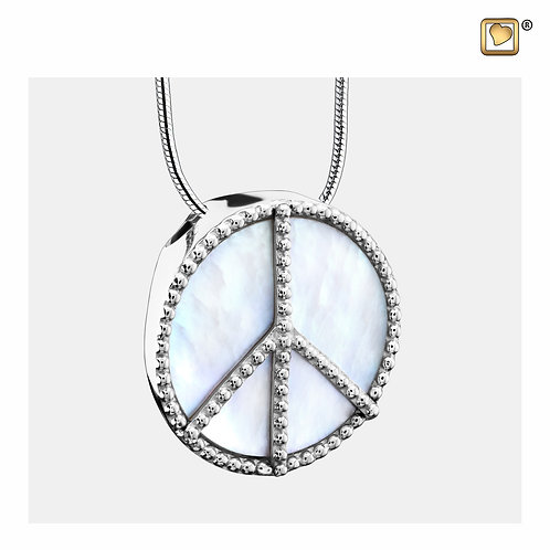 Peace Mother of Pearl Ashes Pendant