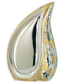 Elegante Silver Gold Teardrop Keepsake & Bag