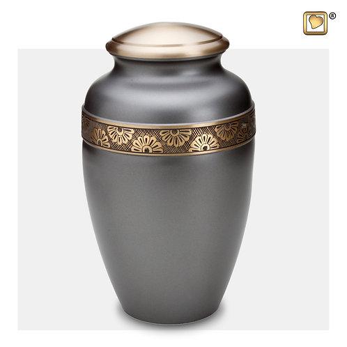 Floral Band Urn Slate & Brushed Gold