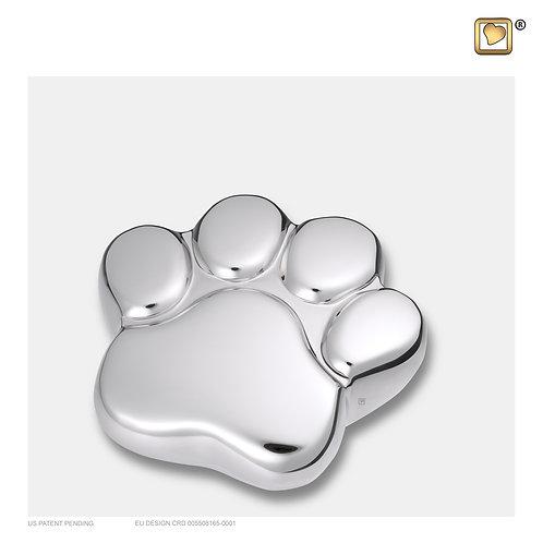 LovePaw Pet Keepsake Urn Polished Silver
