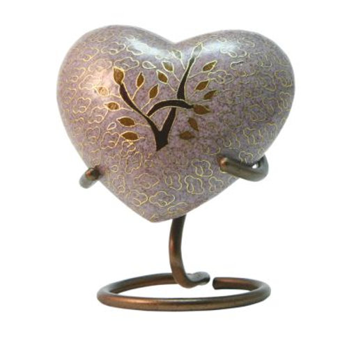Cloisonne Tree of Life Heart Keepsake