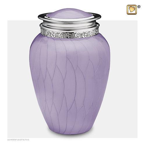 Blessing Urn Pearl Lavender & Polished Silver