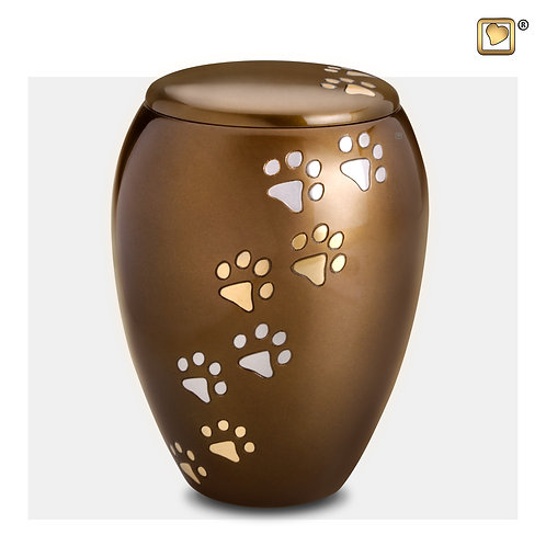 Majestic  Pet Urn Bronze & Brushed Gold