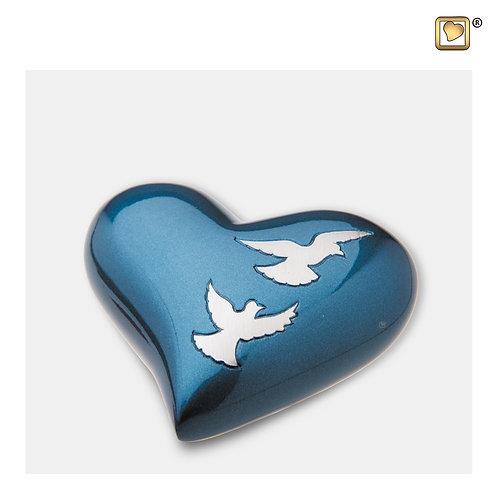 Flying Doves Heart Keepsake Urn