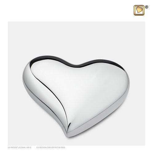 Heart Keepsake Urn Pol Silver
