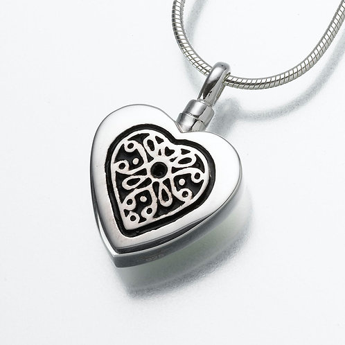 Sterling Silver Heart Filigree