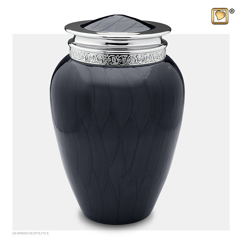 Blessing Urn Pearl Midnight & Polished Silver