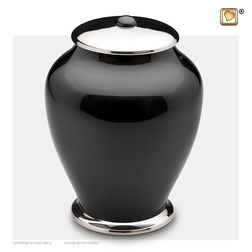 Simplicity Urn Midnight & Polished Silver