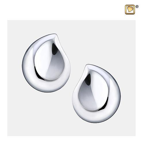 TearDrop Stud Earrings Polished Silver