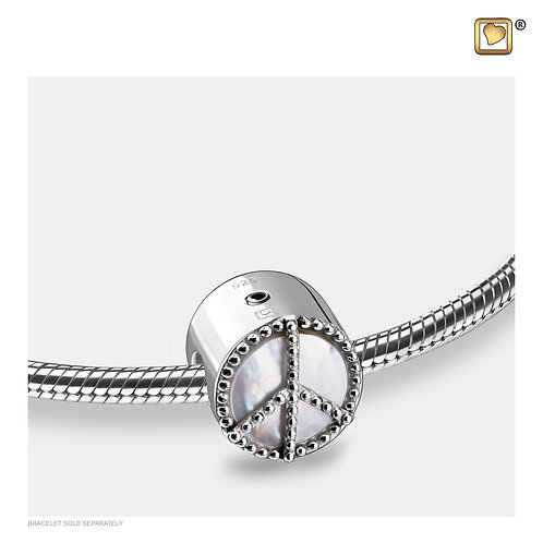 Peace Mother of Pearl Ashes Bead