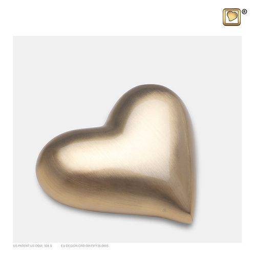Heart Keepsake Urn Brushed Gold