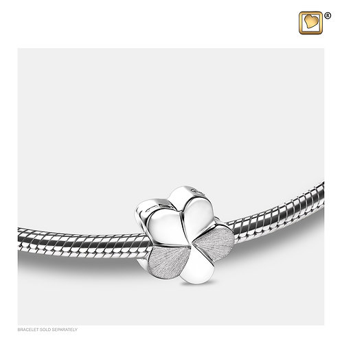 Bloom Ashes Bead Polished & Brushed Silver