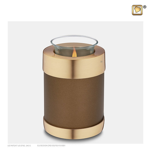Tealight Urn Auburn & Brushed Gold