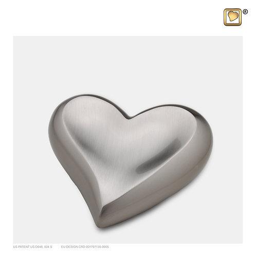 Heart Keepsake Urn Brushed Pewter
