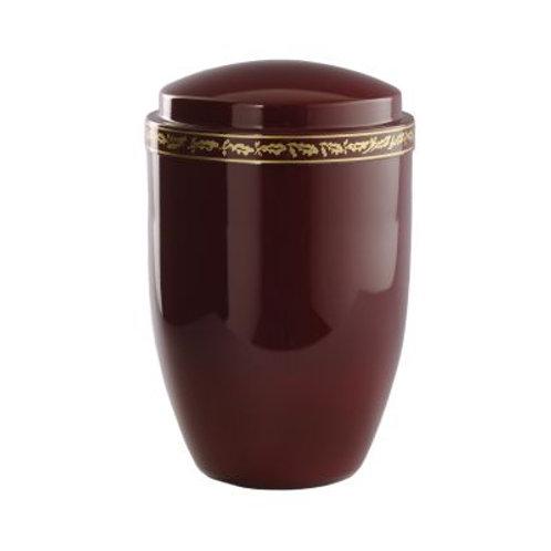 Tana Bordeaux Metal Urn