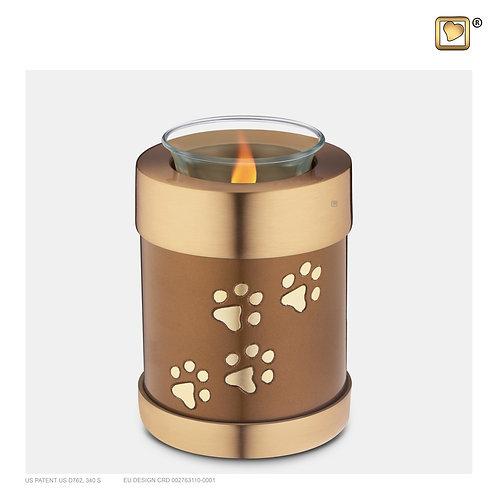 Pet Tealight Urn Bronze & Brushed Gold