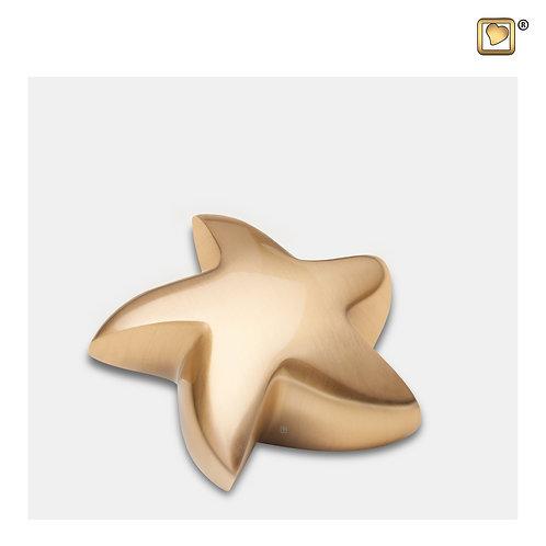 Angelic Star Keepsake Urn Brushed Gold