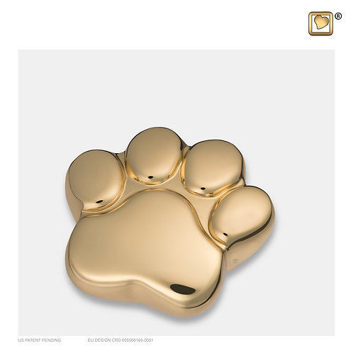 LovePaw Pet Keepsake Urn Polished Gold