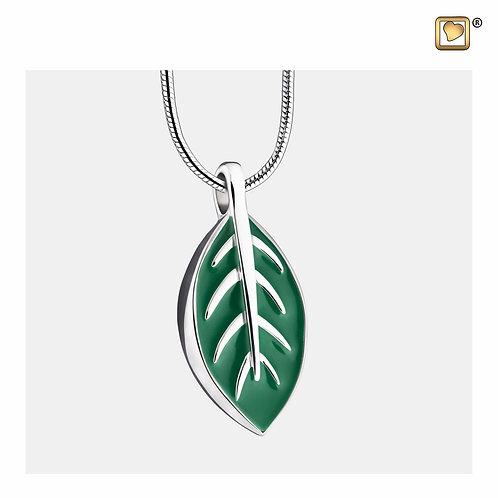 Elegant Leaf Ashes Pendant