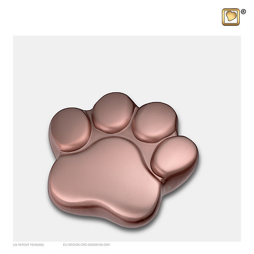 LovePaw Pet Keepsake Urn Brushed Rose Gold