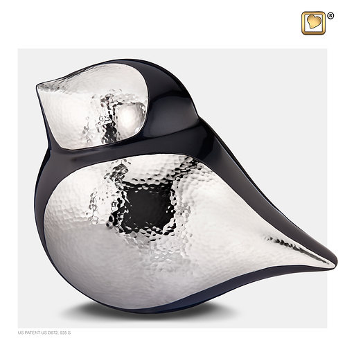 SoulBird Male Urn Midnight & Hammered Silver