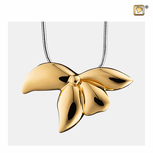 Orchid Ashes Pendant Pol Gold Vermeil
