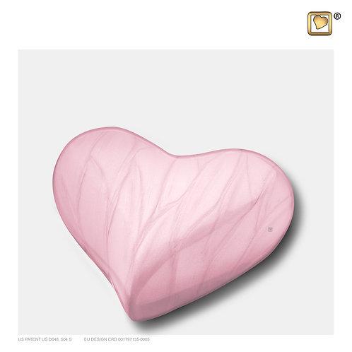 Heart Urn Pearl Pink