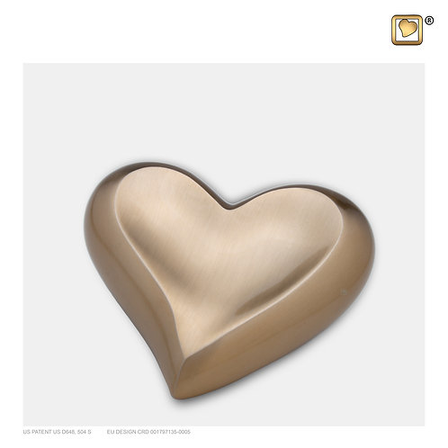 Heart Keepsake Urn Brushed Gold