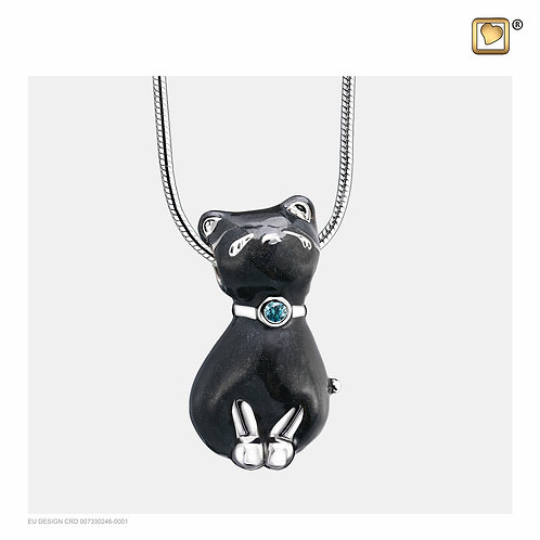 PrincessCat Ashes Pendant Pearl Midnight & Polished Silver with Swarovski®