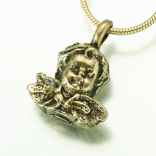 White Bronze Cherub