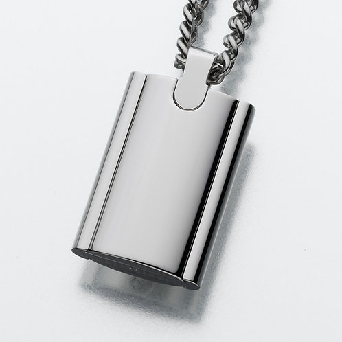 Sterling Silver Flask with Chain