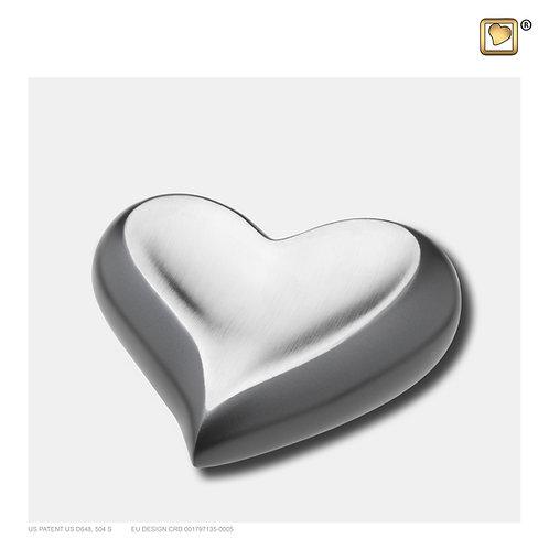 Heart Keepsake Urn Slate & Brushed Pewter