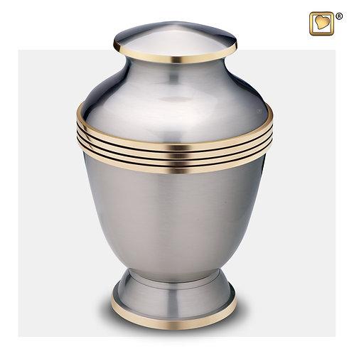 Elegant Adult Urn Brushed Pewter