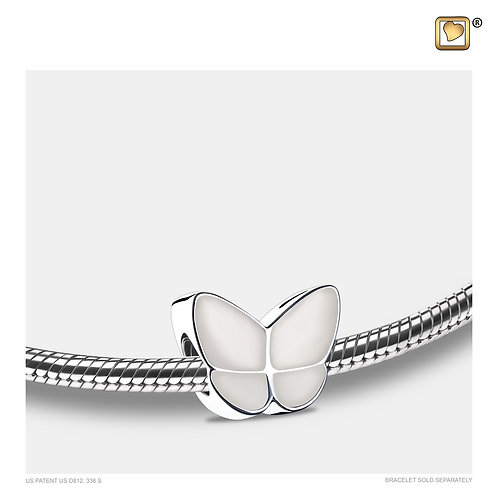 Wings of Hope Ashes Bead Pearl White