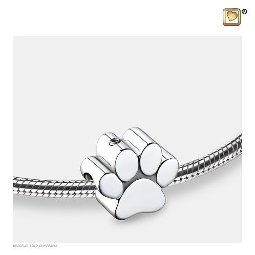 Paw Ashes Bead Pol Silver