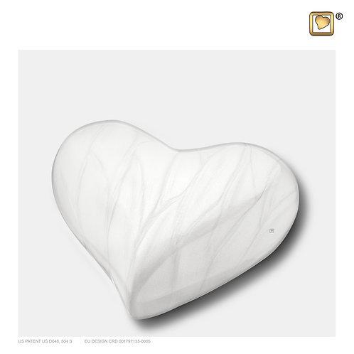 Heart Urn Pearl White