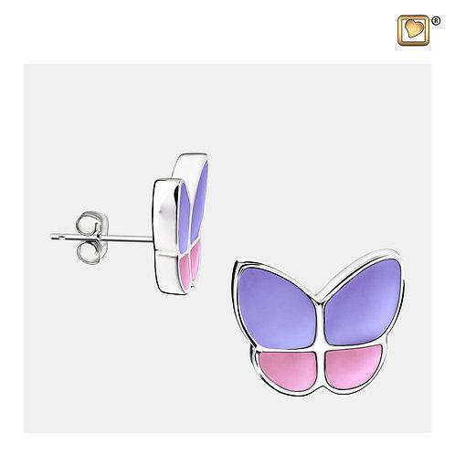 Wings of Hope Stud Earrings Pearl Lavender