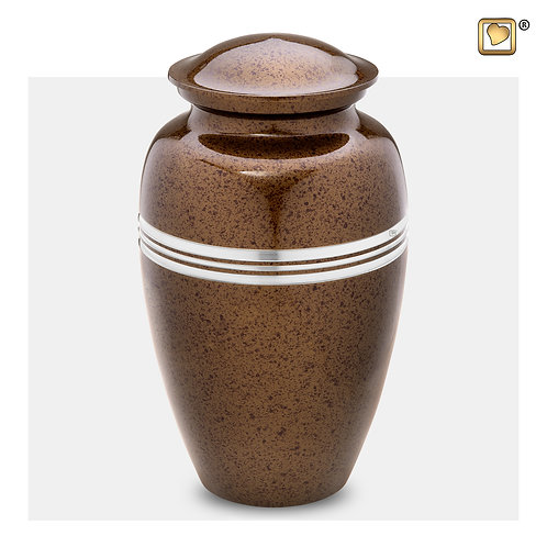Classic Urn Speckled Auburn & Brushed Pewter