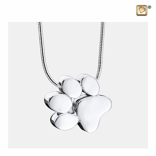 Paw Ashes Pendant Polished Silver