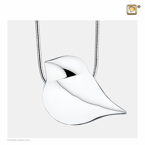 SoulBird Ashes Pendant Polished Silver