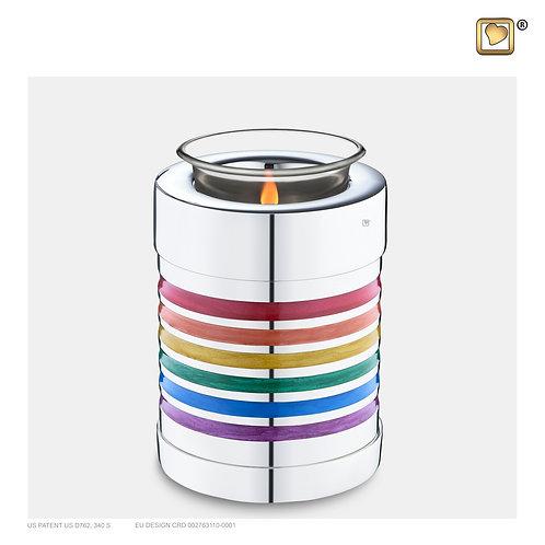 Pride Rainbow Tealight Urn Pol Silver