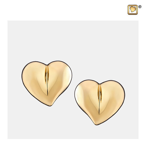 LoveHeart Stud Earrings Polished Gold Vermeil